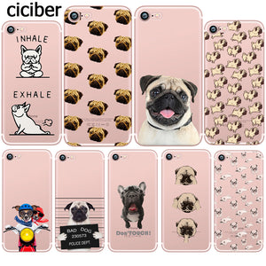 Pug And French Bulldog Silicone Phone Case