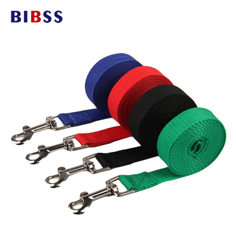 Nylon Dog Leashes. 10 ft to 50 ft long. Assorted colors.