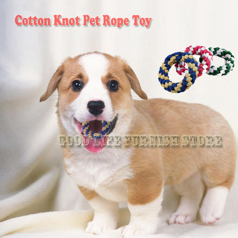 Durable Cotton Rope Chew Doughnut For Dogs and Puppies.