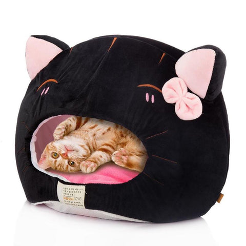 Soft Warm Cat Shaped Bed for Cats or Small Dogs