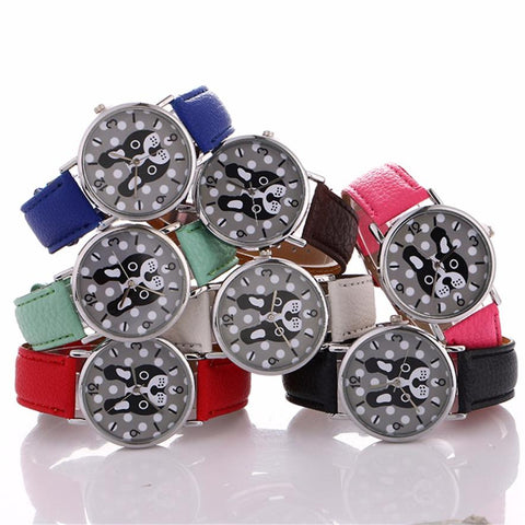 Cute French Bulldog Watch for Ladies or Girls.