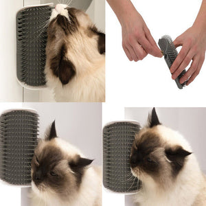 Cat Massage Comb and Self-Groomer, With Cat Nip!