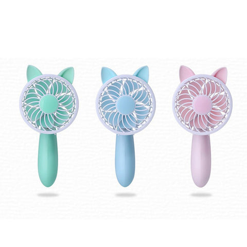 Rechargeable Cat Ear Handheld Personal Fan