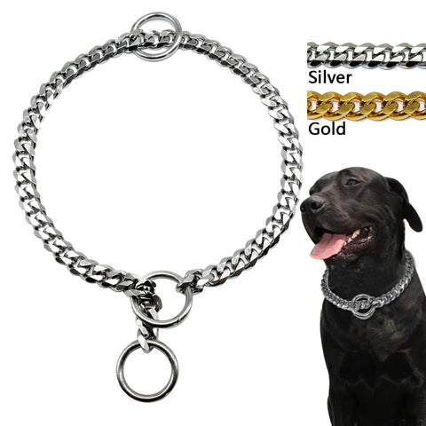 Chrome Metal Training Collar