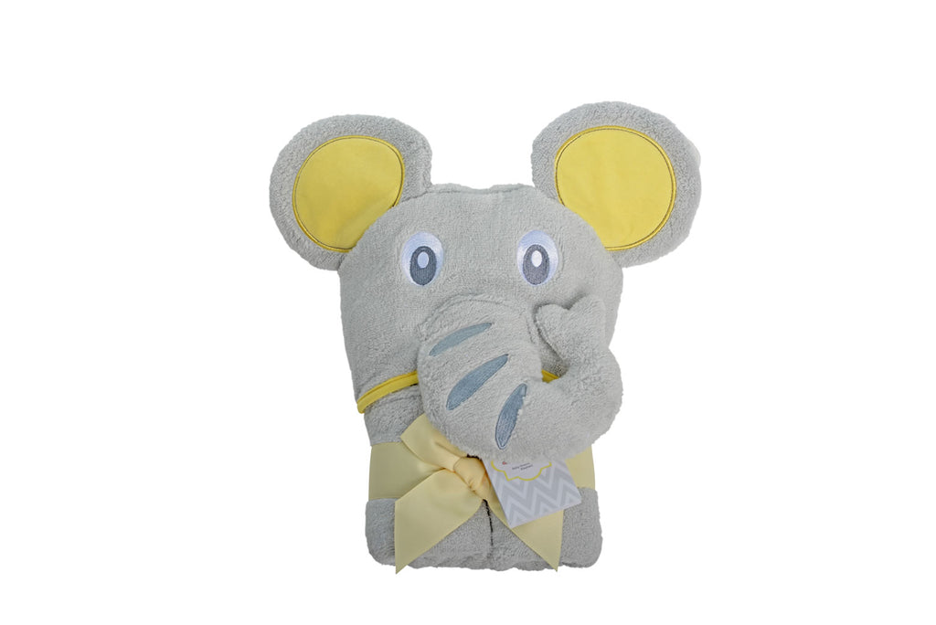 Elephant Baby Hooded Towel - Large