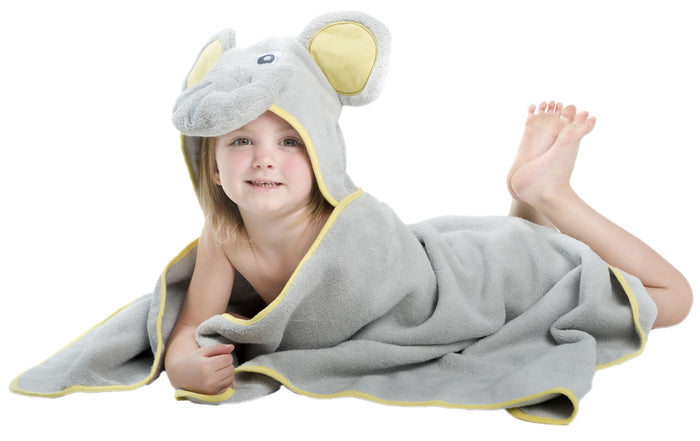 "Elephant Hooded Towel - Large (30x50"")"