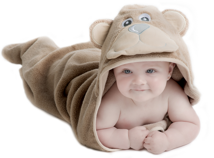 "Bear Hooded Baby Towel - Small (30x30"")"