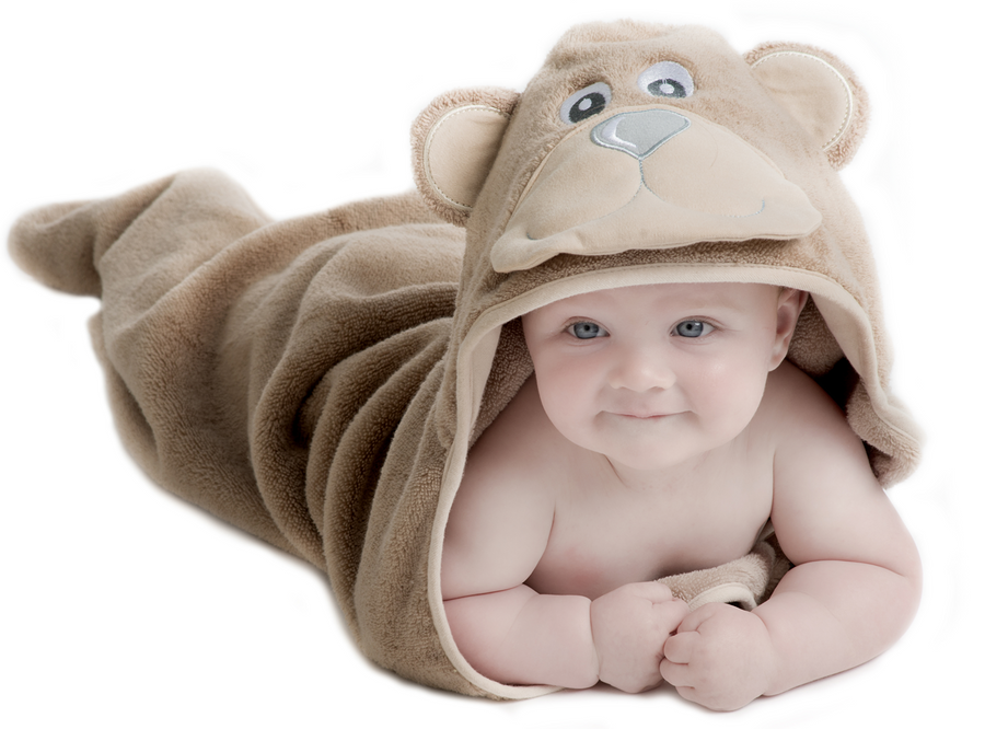 Bear Hooded Baby Towel