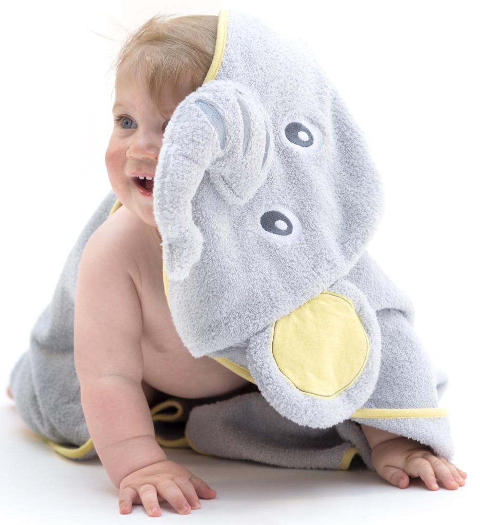 Elephant Hooded Baby Towel