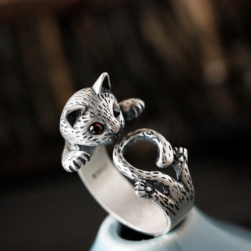 silver tizdeals tail products rings cat felix sterling long ring