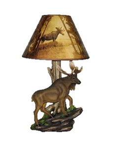 "20"" Moose Lamp   HD 30105"