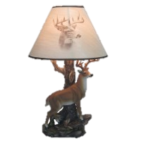 "13"" Champion Deer Lamp<BR>HD 34044"