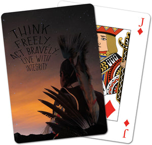 Think Freely Playing Cards<BR>CD 15320