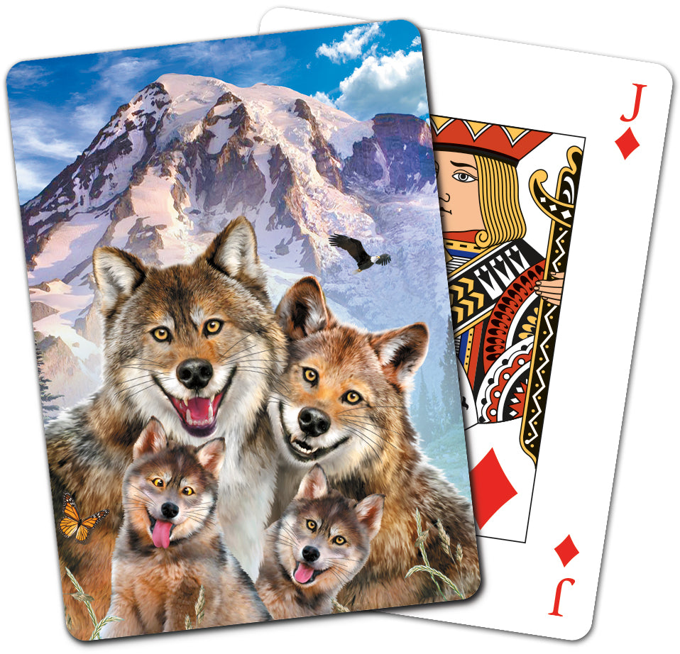 Wolf Family Playing Cards<BR>CD 15916
