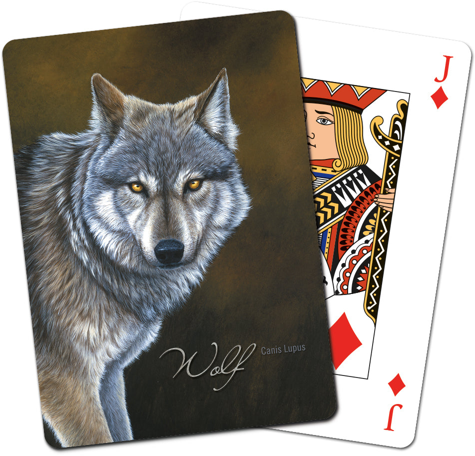 Classic Wolf Playing Cards<BR>CD 49736