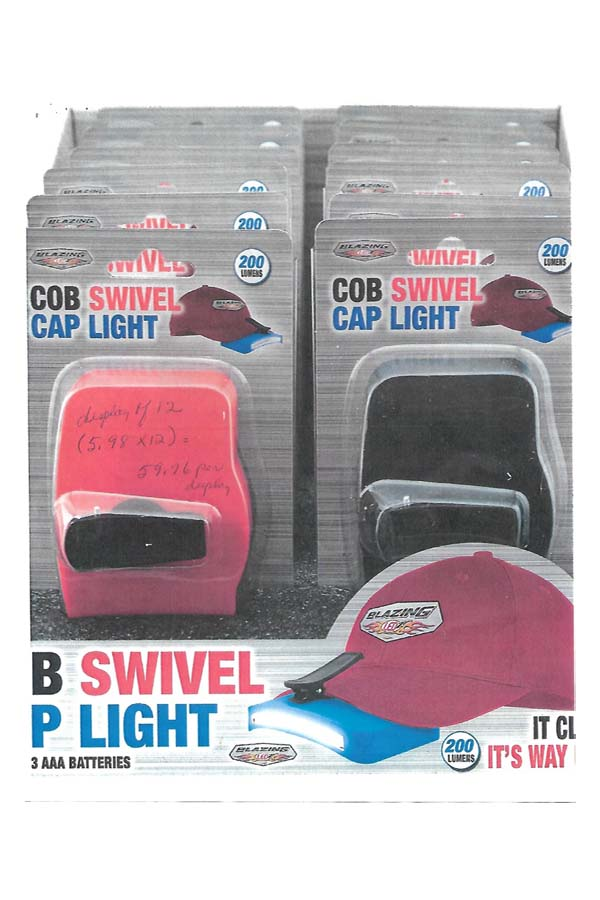 COB swivel LED cap light