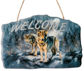 Wolf Welcome Sign<BR>DC 12144A