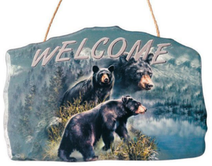 Black Bear Welcome Sign<BR>DC 12144E
