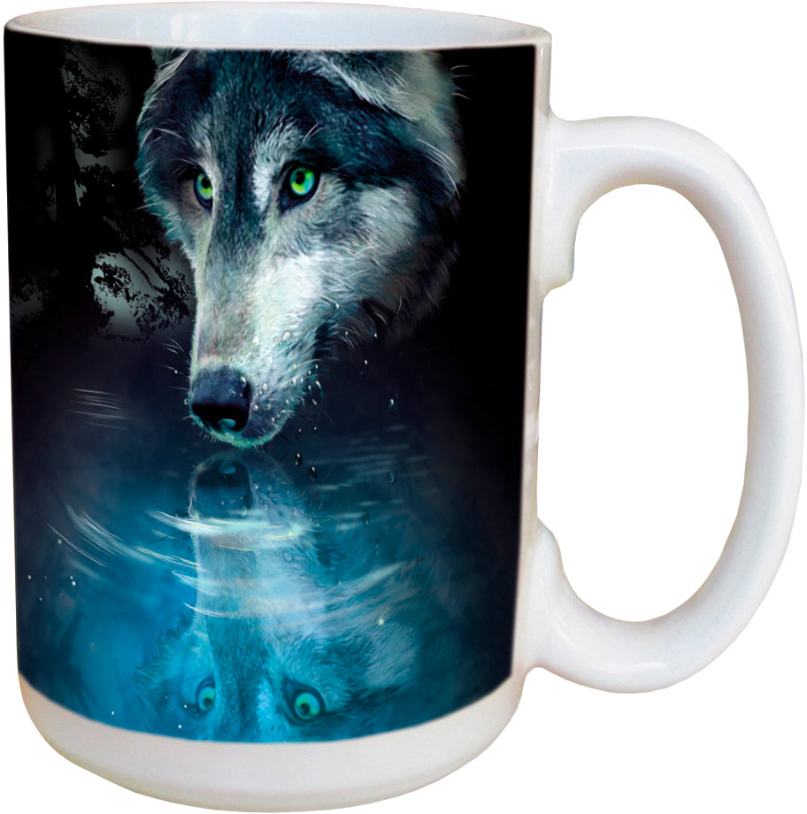 Wolf Reflection Coffee Cup<BR>LM 46270