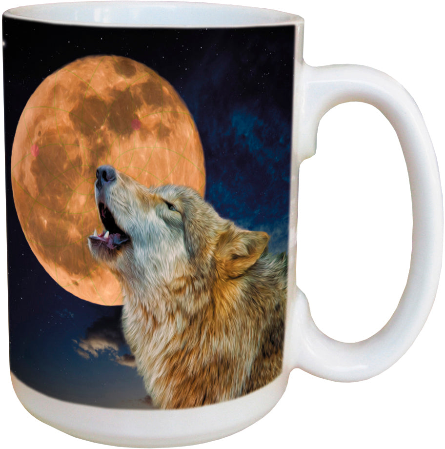 One Wolf Moon Coffee Cup<BR>LM 46312