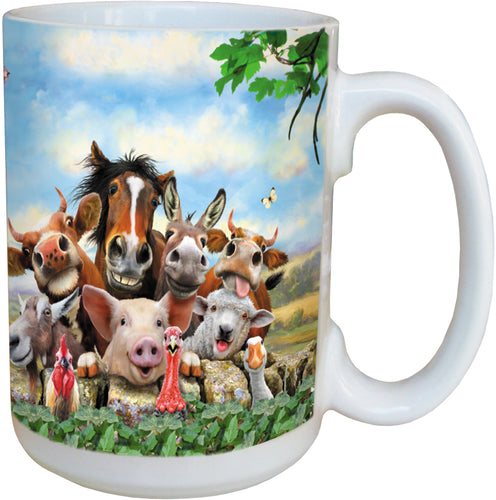 Farm Selfie Coffee Cup<BR>LM 46895