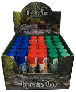 WILDLIFE LIPBALM 36 PC COUNTER DISPLAY<BR>GIFT SET