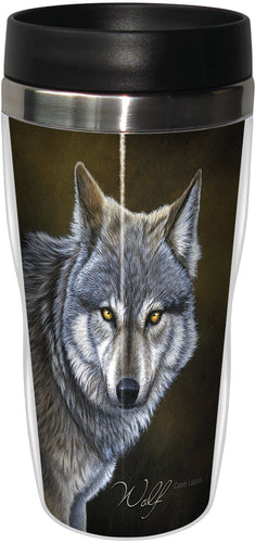 Classic Wolf Stainless Steel Travel Mug<BR>SG 25736
