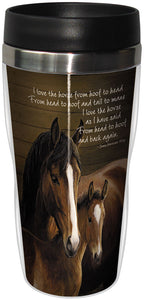 From Head To Hoof Stainless Steel Travel Mug<BR>SG 25855