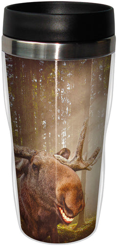 Western Moose Stainless Steel Travel Mug<BR>SG 78059