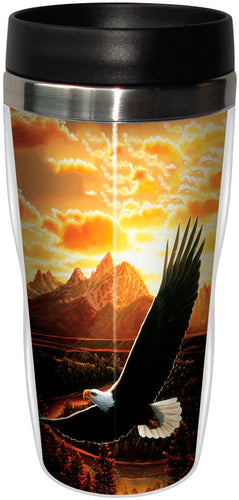 Soaring Eagle Stainless Steel Travel Mug<BR>SG 78281