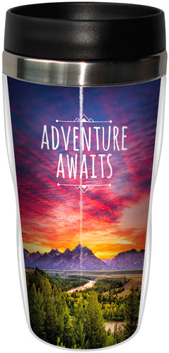 Adventure Awaits Stainless Steel Travel Mug<BR>SG 78293