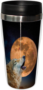 One Wolf Moon Stainless Steel Travel Mug<BR>SG 78312