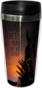 Think Freely Stainless Steel Travel Mug<BR>SG 78320