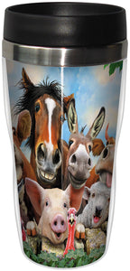 Farm Selfie Stainless Steel Travel Mug<BR>SG 78895