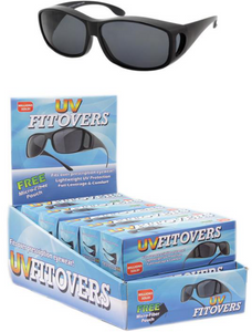 UV FITOVER SUNGLASSES<BR>12 PCs