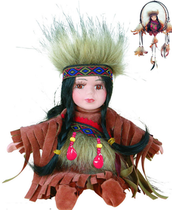 "8"" Native Doll w/Dreamcatcher<BR>DC08142"