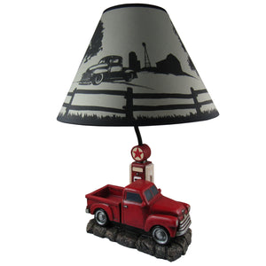 "20"" Big Red Truck Lamp"