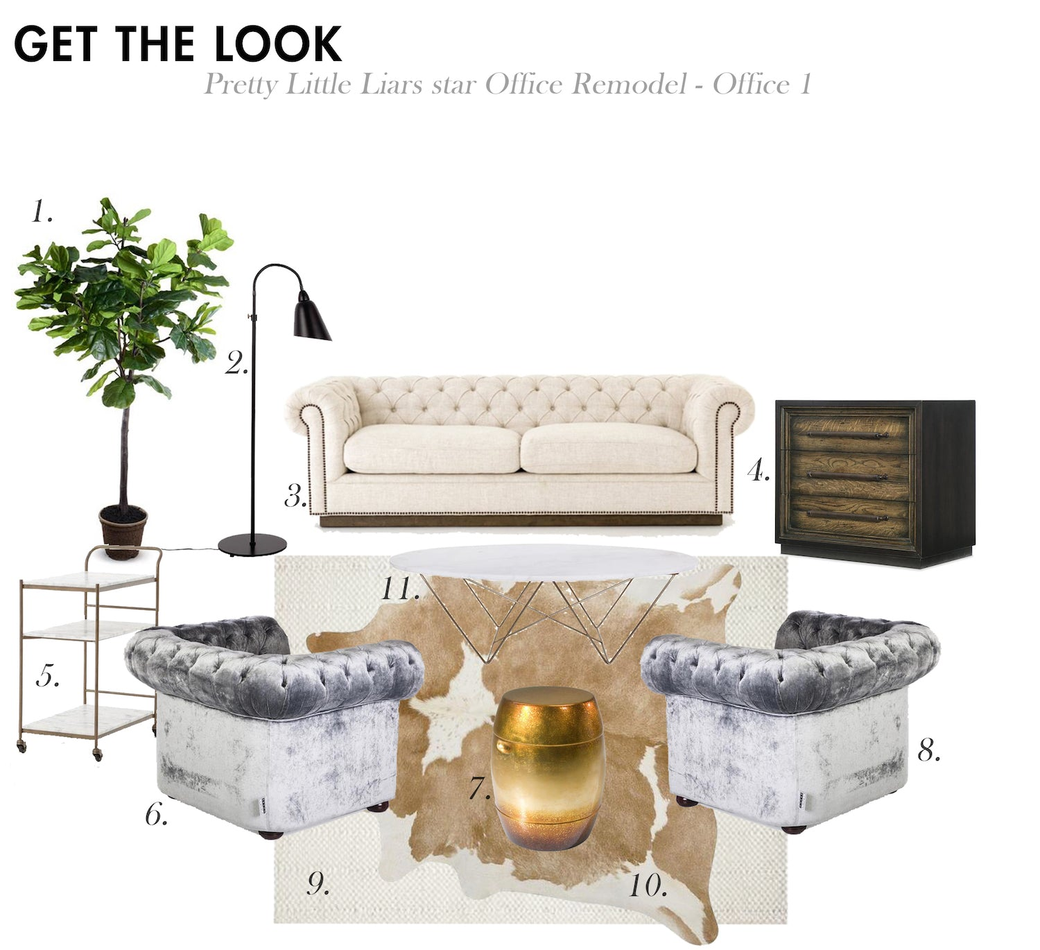 Get the Look For Less: Shay Mitchell's Office Remodel