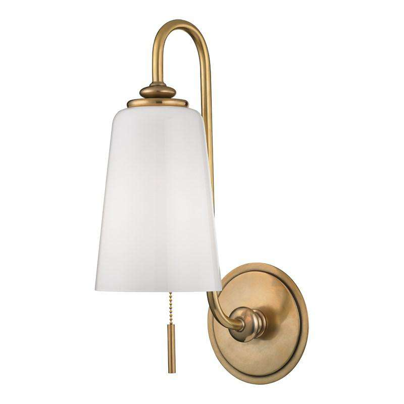 Glover 1 Light Wall Sconce Aged Brass