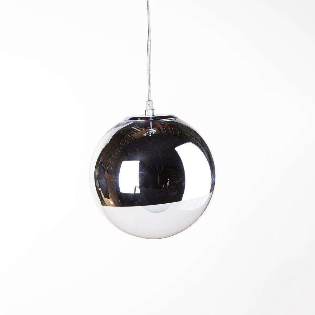Mid-Century Modern Reproduction Mirror Ball Pendant Light 10'' Inspired by Tom Dixon