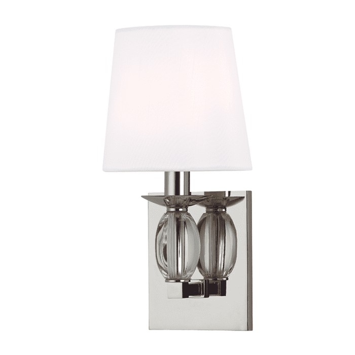 Cameron 1 Light Wall Sconce Polished Nickel