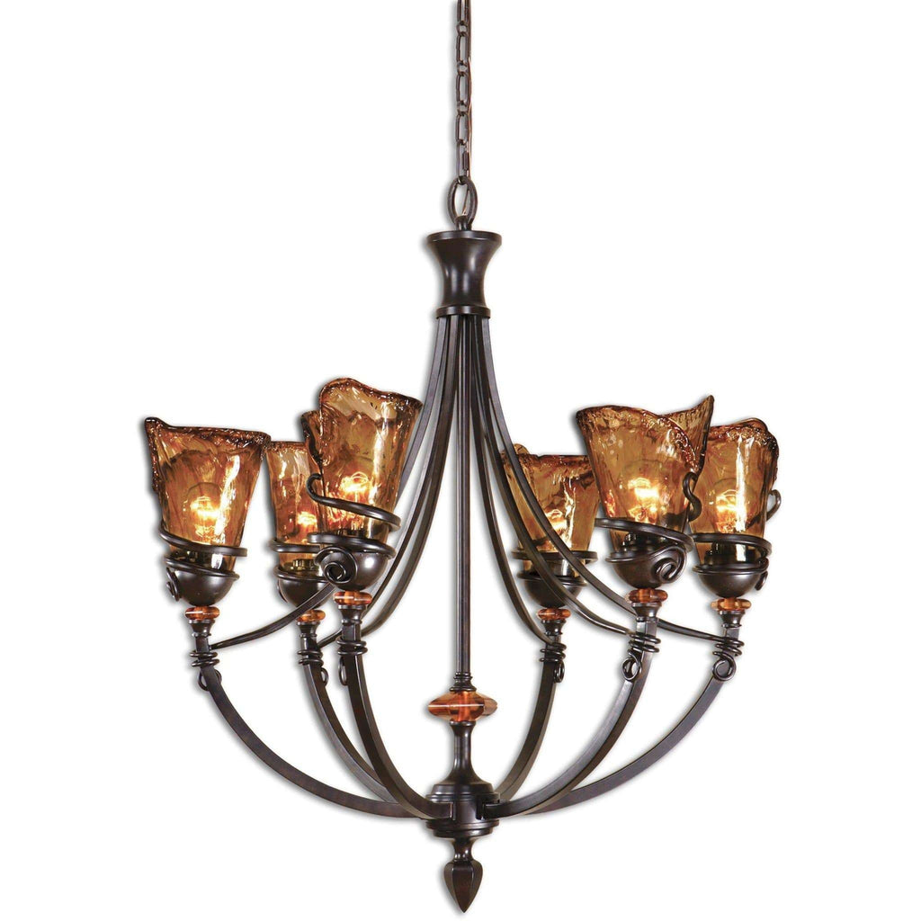 Uttermost Vitalia 6Lt Oil Rubbed Bronze Chandelier