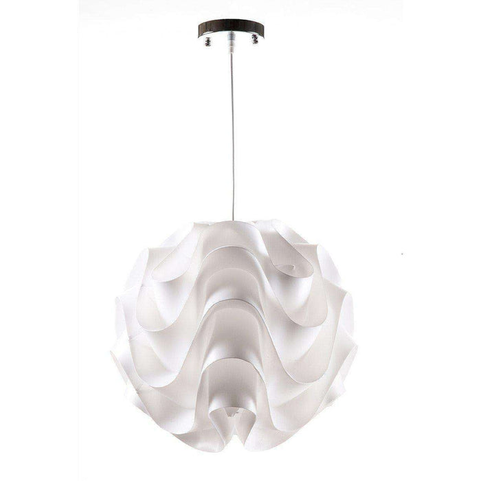Mid-Century Modern Reproduction LK172 White Pendant Wave Lamp 16.5'' Dia Inspired by Poul Christiansen