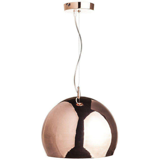 Mid-Century Modern Reproduction Copper Shade Pendant Lamp Inspired by Tom Dixon