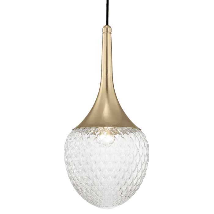 "Bella 1 Light ""B"" Pendant - Aged Brass"