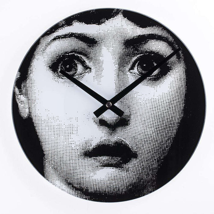 Mid-Century Modern Reproduction Girl Clock - Wasn't Me Inspired by Piero Fornasetti
