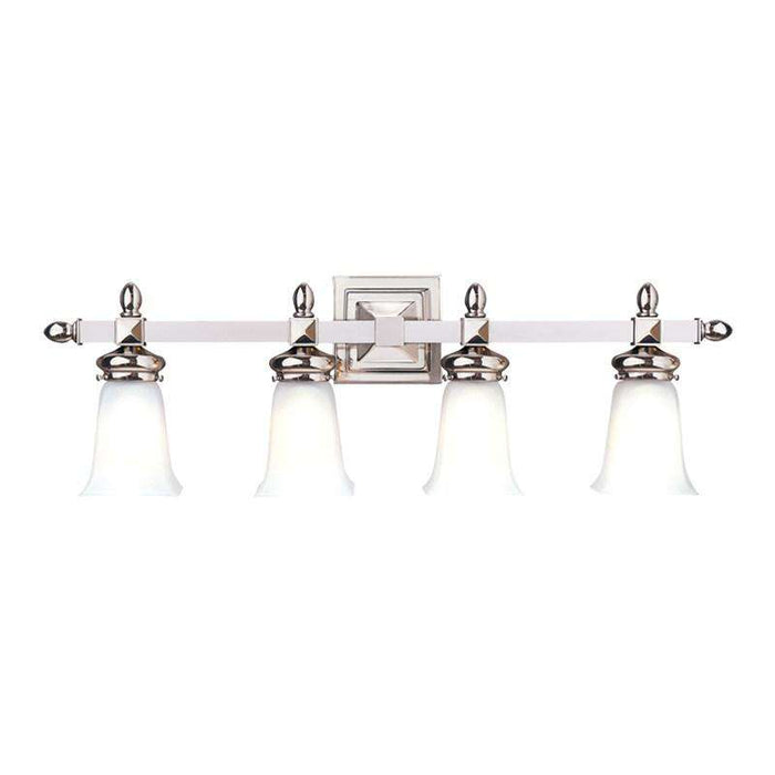 Cumberland 4 Light Bath Bracket Polished Nickel