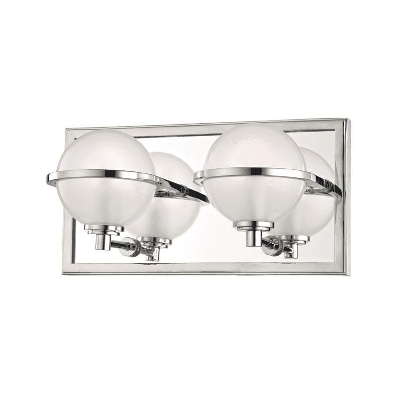 Axiom 2 Light Bath Bracket Polished Nickel