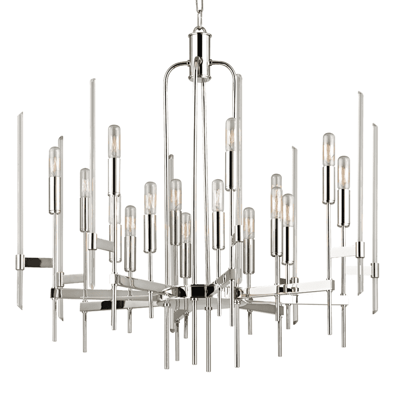 Bari 16 Light Chandelier Polished Nickel