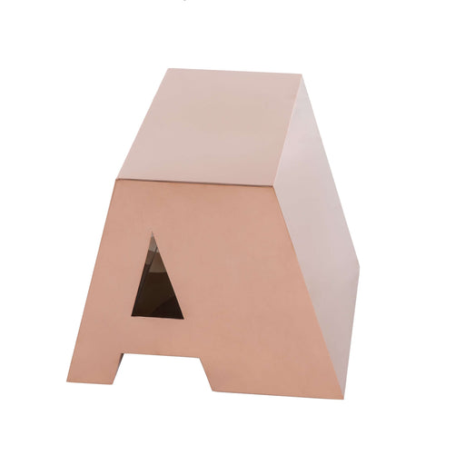 Golden Alphabet Side Table - A -